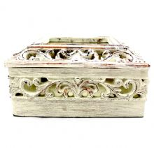Carved Wood Trinket Box
